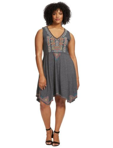Johnny Was plus size 3X Gray Embroidered Annika Sl
