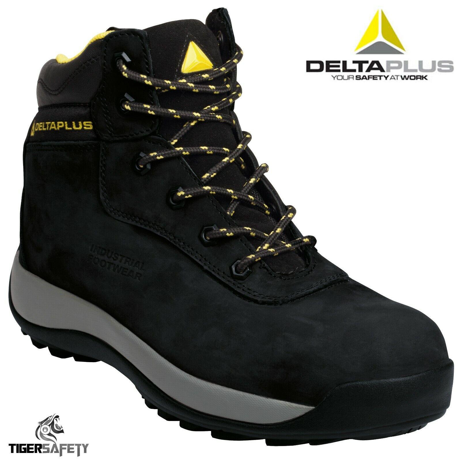 Delta Plus Saga S3 HRO Black Nubuck Composite Toe Cap Work Safety Boots PPE