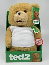 Ted2 11 inch Talking Bear in Outfit - PG version, NEW and MINT!