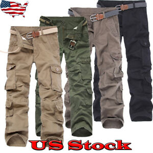 Military-Men-039-s-Cotton-Cargo-Pants-Combat-Camouflage-Camo-Army-Style-Trousers-US