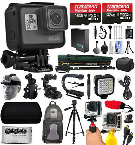 GoPro-Hero-5-Negro-chdhx-501-with-128gb-Ultimate-Pack-de-accesorios-paquete-kit