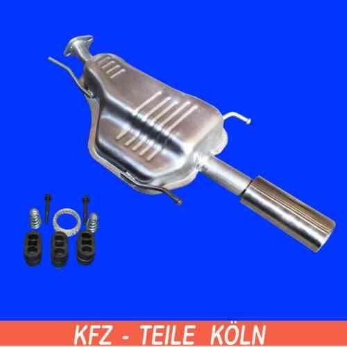 OPEL ASTRA G 1.6 1.8  2.2 Cabrio Coupe Endschalldämpfer Endtopf Schalldämpfer