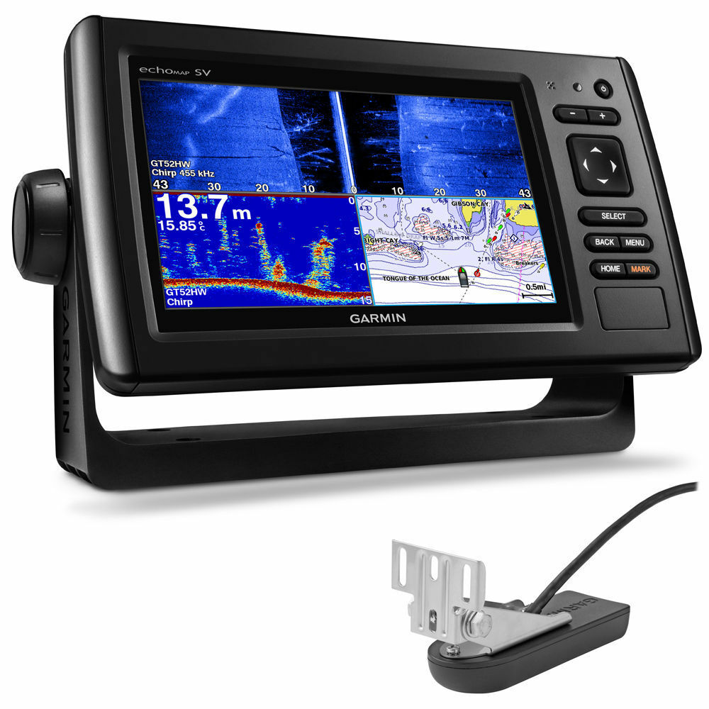 Garmin echoMAP™ Plus 72sv 7  Fishfinder GPS Chartplotter  Combo w SideVü GT52 TDX  wholesale cheap and high quality