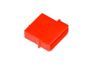 Netzteil/Lüfter 4-Pin Molex, Stecker, UV-aktiv rot