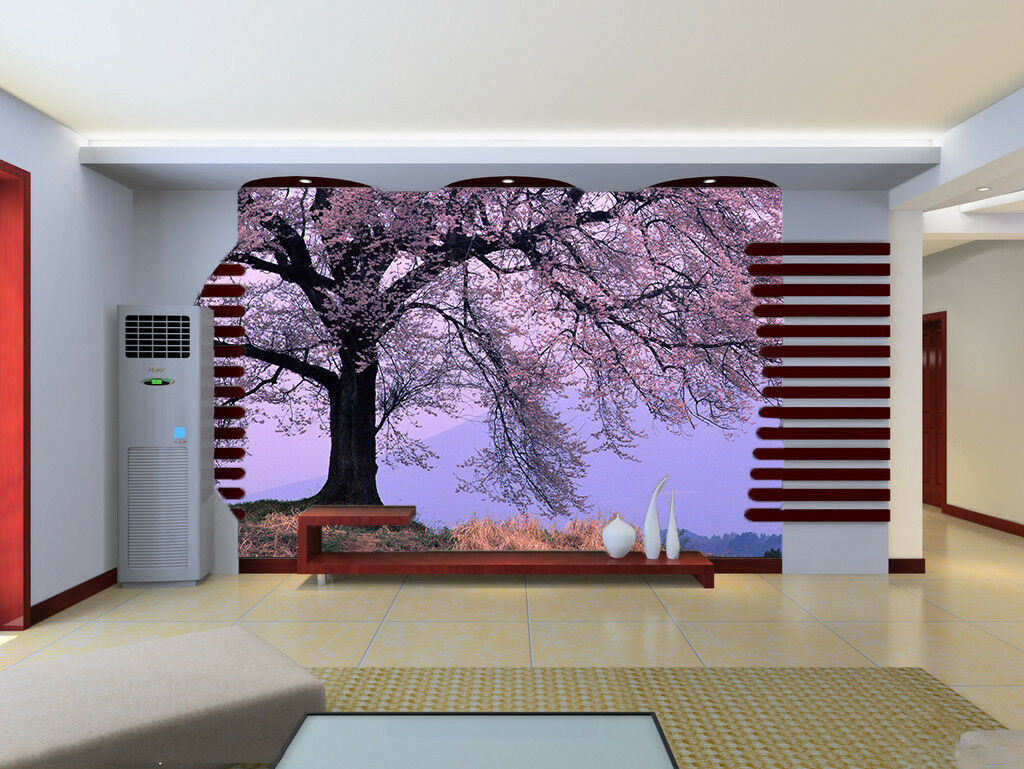 3D lila Sky Tree 82 Wallpaper Mural Paper Wall Print Wallpaper Murals UK Lemon