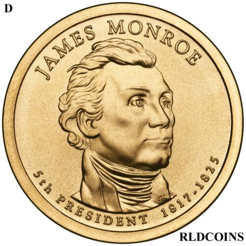 2008 D PRESIDENT JAMES MONROE UNCIRCULATED PRESIDENTIAL DOLLAR  #5D