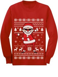 Ugly Christmas Sweater Kids.Details About Santa Floss Funny Ugly Christmas Sweater Toddler Kids Long Sleeve T Shirt