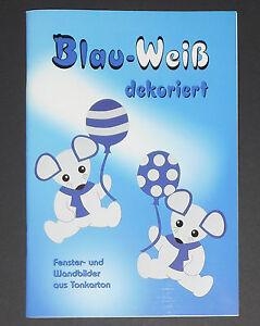 Blau-Weiss-dekoriert-Fenster-und-Wandbilder-aus-Tonkarton-Angelika-Kipp-NEU