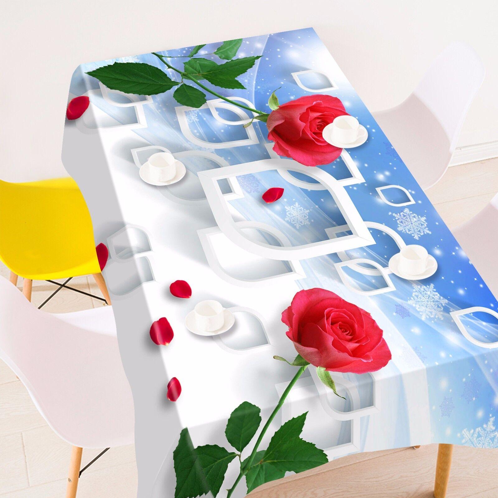 3D Petals 52 Tablecloth Table Cover Cloth Birthday Party AJ WALLPAPER UK Lemon