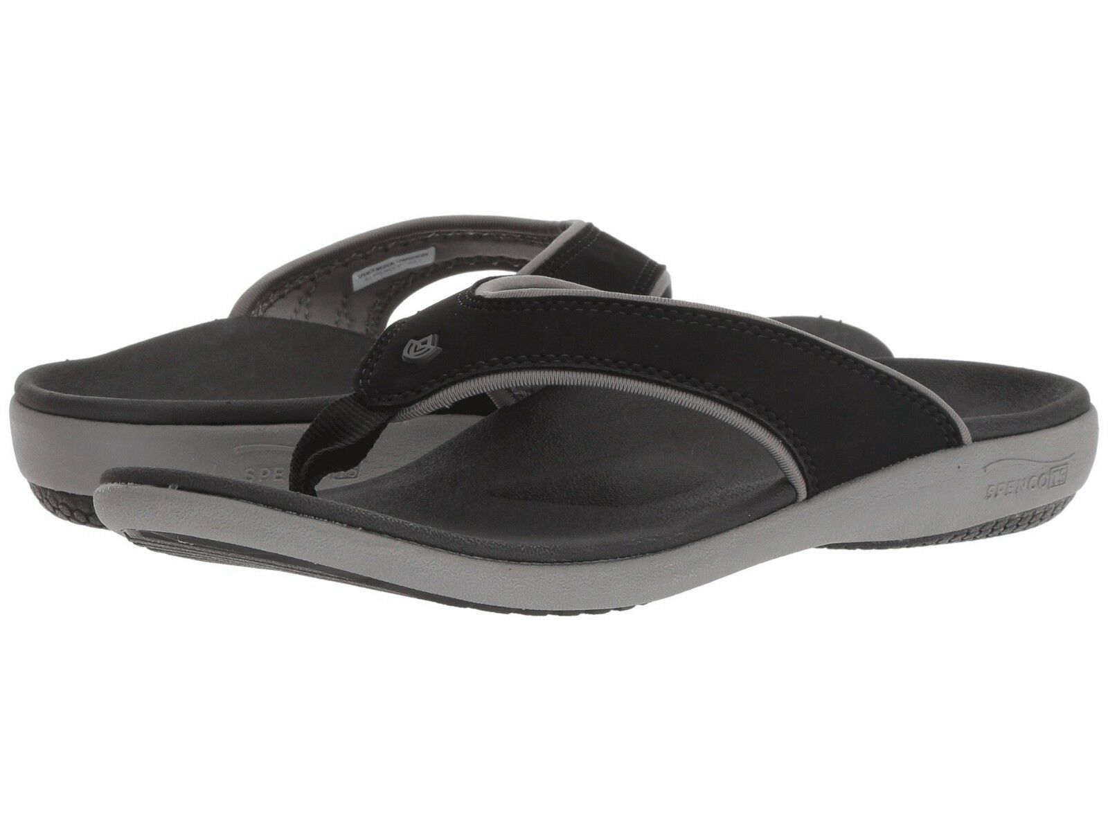 Spenco Sandal Total Support Thong Women Yumi Plus  Black Flip Flop Medium (M, B)