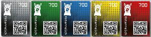 O-2020-Crypto-stamps-2-0-Lama-alle-Farben-komplett-5-stellig-postfrisch