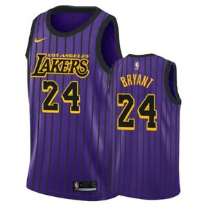 Kobe Bryant New #24 Adult Size m Lakers Purple Jersey With Tags | eBay