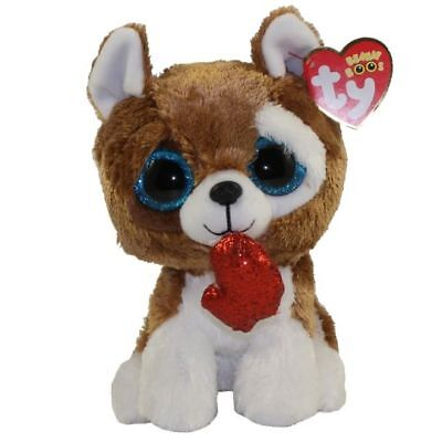 Ty Beanie Babies 36662 Boos Smootches the Brown Dog Valentine Boo