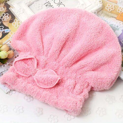 Microfiber Towel Hair Magic Drying Turban Wrap Quick Dry Hat Cap Bathing Shower