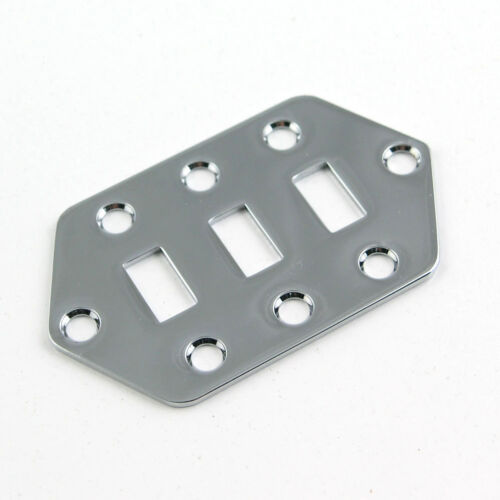 Chrome Switch Plate for Jag Style Guitars M26