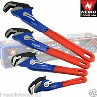 4 Pc Self Adjusting Adjustable Pipe Quick Release Wrench Tool Pipewrench