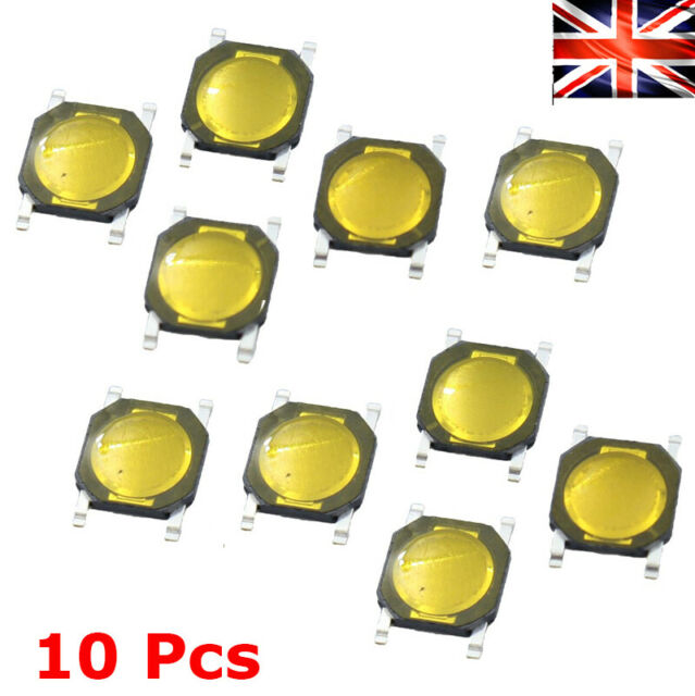 10 Pcs//1 Set 2x4x3.5mm Side Tactile Push Button Micro SMD SMT Tact Switch Let
