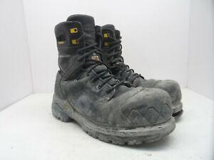 12c1ad450e6 TERRA Men's 8'' Sabre Waterproof Vibram CTCP Work Boots Black Size ...