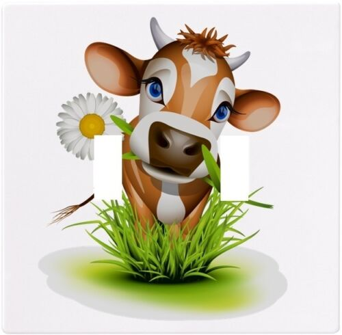 Cow in Grass Animal Wallplate Wall Plate Decorative Light Switch Plate Cover