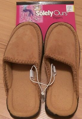 5bc8f02cb16 NWT Solely Ours Women's Clog Slippers Shoes Suede Beige 6 Medium | eBay