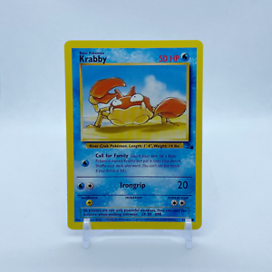 Pokemon Card Kingler Fossil  38//62  FREE SHIPPING EXC-NM