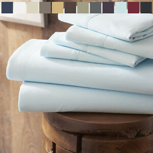 Home-Collection-Premium-4-Piece-Bed-Sheet-Set-FREE-BONUS-PILLOWCASES