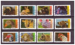Serie-Fauna-de-Francia-sellos-adhesivos-2017
