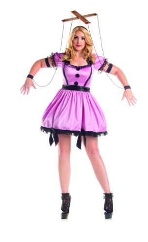 Party King Women/'s Pink Marionette Plus Size Costume