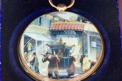 Jewelry & Watches Frugal Museum Chinese Qing Dynasty 22k Gold&enamel Verge Fusee Pocket Watch C1800.boxed
