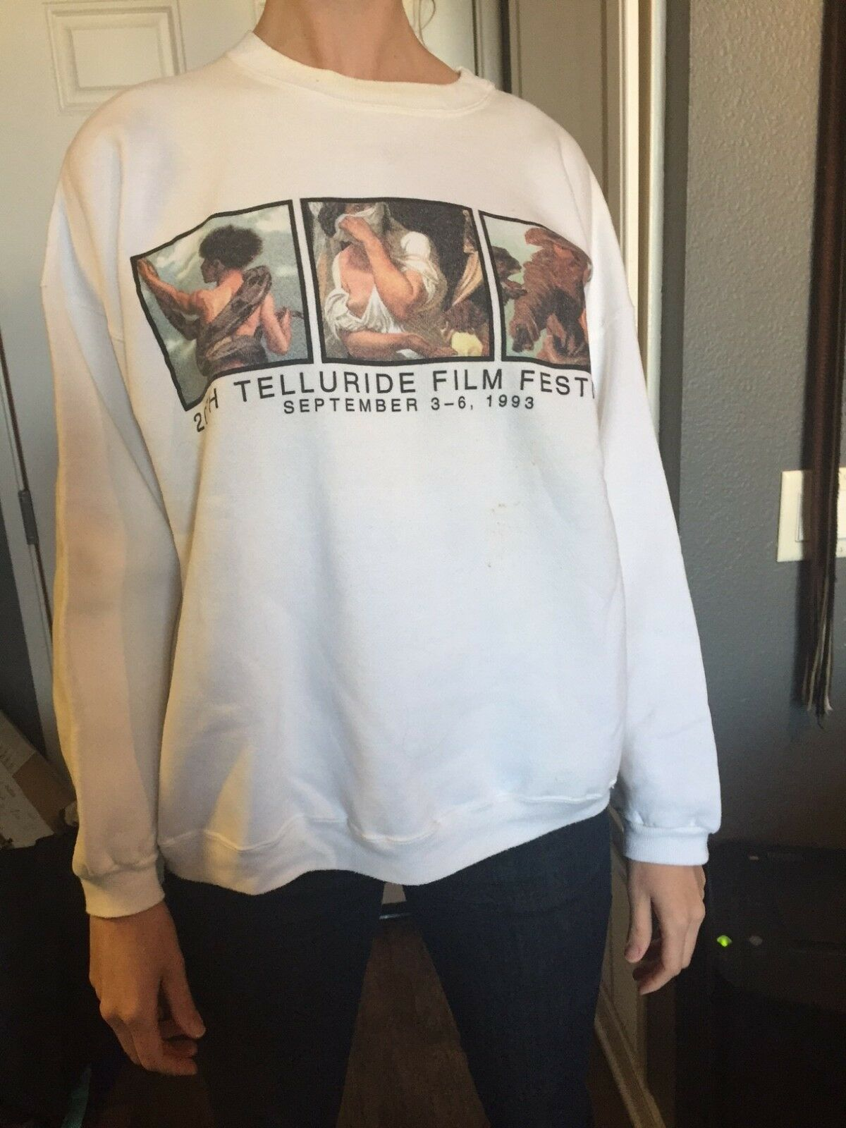 Telluride Film Festival September 3-6,1993 Rare double sided SWEAT SHIRT