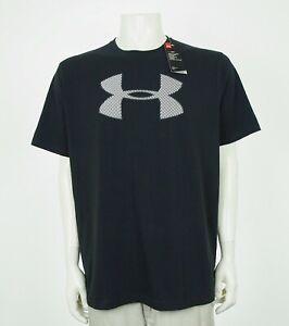 New-Under-Armour-Big-Shield-Logo-Loose-Training-Tee-Shirt-Mens-XL