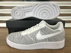 quality design 0eb94 01b73 Details about Nike AF1 Ultra Flyknit Low Air Force One Cool Grey White SZ (  817419-006)