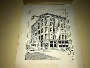 Quimby Walstrom Paper Company Building Pen & Ink Drawing