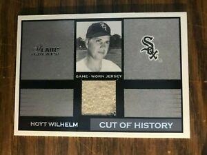2003-Flair-Greats-Cut-Of-History-Hoyt-Wilhelm-Chicago-White-Sox-GW-Jersey-NrMt