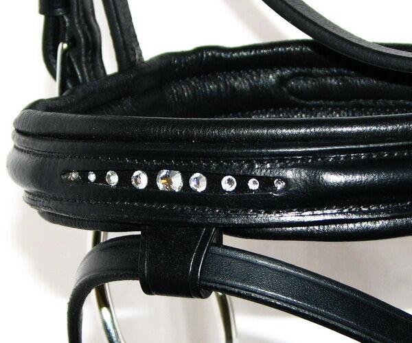 FSS NOVA Curve CLEAR CRYSTAL Bling Comfort German Comfort Bling Flash Cavesson FINE Bridle NEW 40bd11