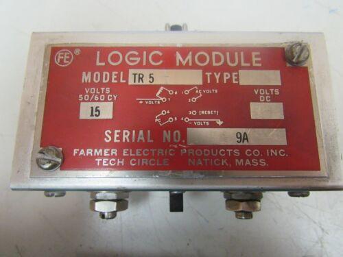 Details about  /FARMER ELECTRIC LOGIC MODULE TR 5 TR5 15V