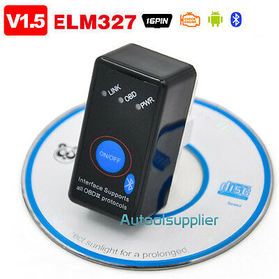 ELM327 V1.5 Bluetooth OBD2 Car Code Reader with Power Switch for Android