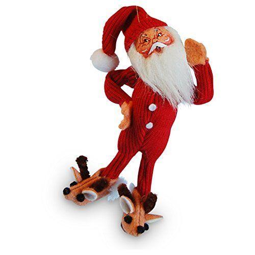 "BED TIME SANTA Ornament 5"" SHATTERPROOF Christmas Tree Soft Annalee 2016"