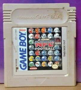 Konami NFL Football -  Nintendo Game Boy Color GB Rare TESTED GBA Advance GBC