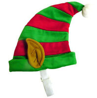 Dog Holiday Christmas Elf Hat Red Green S M Or Lg Pet Dogs Xmas Costume