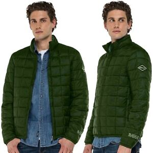 REPLAY-giubbotto-piumino-100-grammi-da-uomo-giacca-trapunta-senza-cappuccio-zip