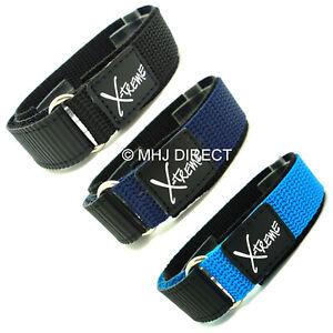 16mm-X-treme-Tough-Sports-Xtreme-Nylon-Hook-amp-Loop-Velcro-Watch-Strap-Band