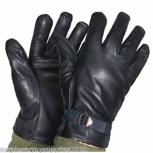 BRAND NEW ITALIAN ARMY LEATHER GLOVES & THERMAL WOOL ...