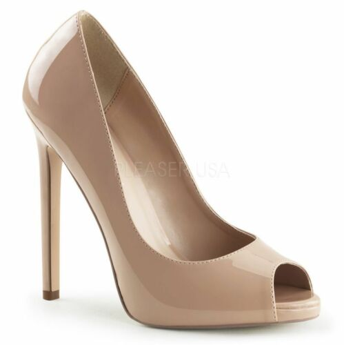 Elegante Peeptoes 42 Office B¸ro Sexy Tabledance Abendschuh Party Nude Pleaser q8xpw1