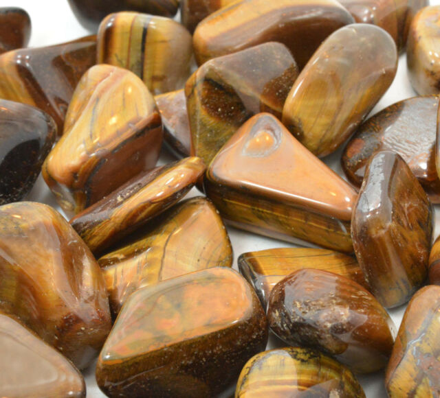 Golden Tiger Eye 25mm QTY1 Tumbled Stone Healing Crystal Good Luck Protection