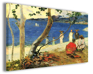 Dettagli su Quadri famosi Paul Gauguin vol III Stampa su tela arredo  moderno arte design
