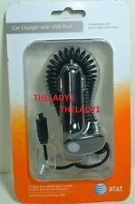 NEW AT&T Phone Car Charger with Micro USB Port LG SAMSUNG BLACKBERRY MOTOROLA