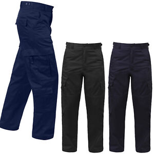 Tactical-Uniform-Cargo-Pants-9-Pocket-EMT-EMS-Paramedic-Medic-Work-Duty-Trousers