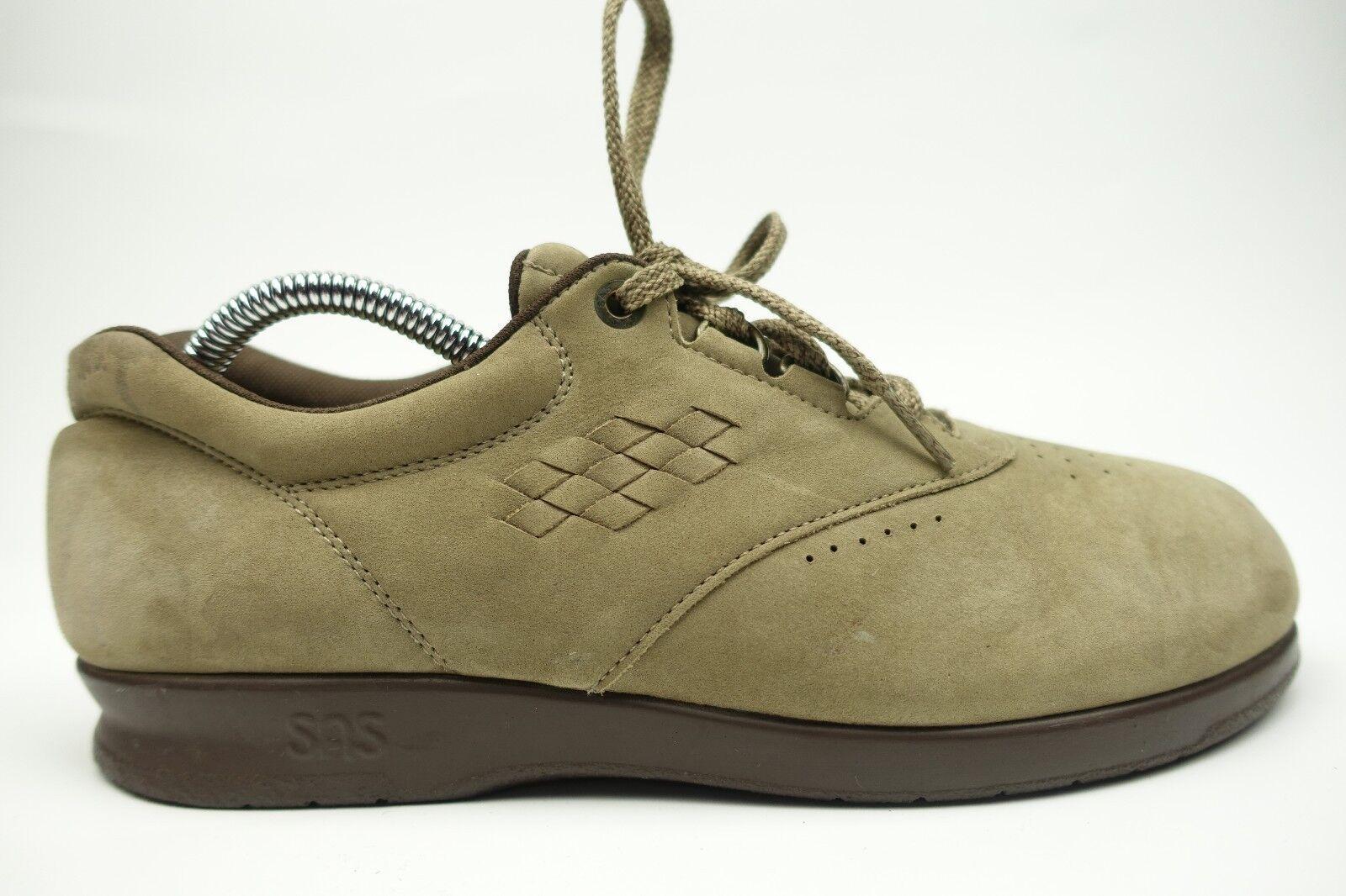 SAS Tripad Comfort Loafers Suede Look 9.5 Medium Tie Top Gray Green oxfords