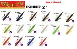 """5 Gummifische Kreaturen Fish Killer TOIRTAP 3,1/"""" Barschangeln blackbass"""